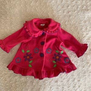Starting Out Boho Pink Pea Coat Girls 15-18 months